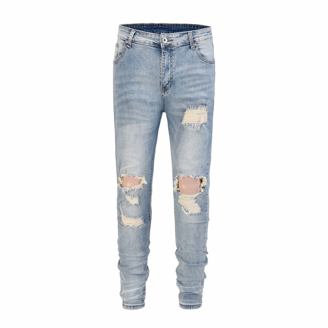 89484133 2018 TOP Best version designer clothes big ripped men jeans hip hop justin  bieber moto biker Fashion Casual Hole jeans 30-36