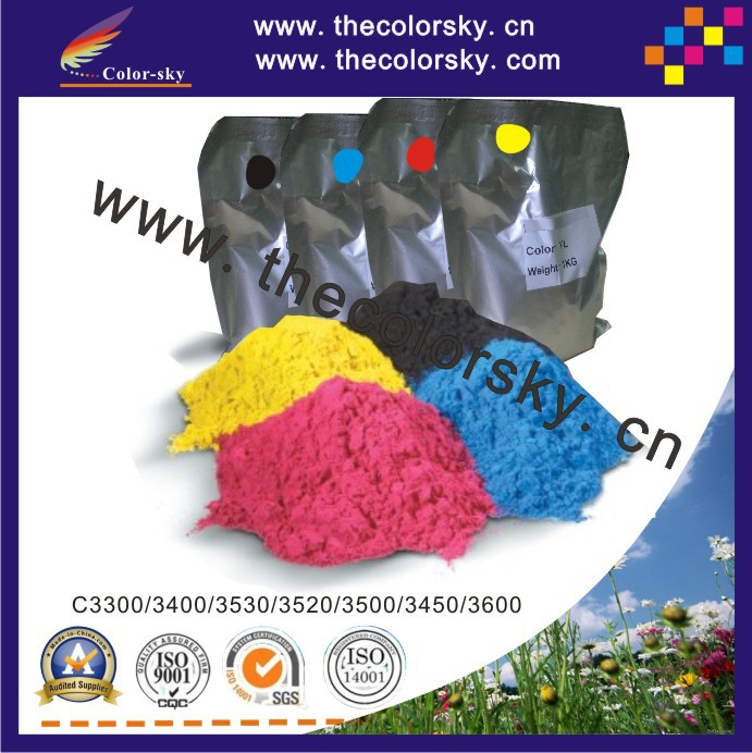(TPOHM-C3300) laser color toner powder for OKI C 3300 3400 3530 3520 3500 3450 3600 C3600 1kg/bag/color Free FedEx toner reset chip for oki c810 c830 jp version