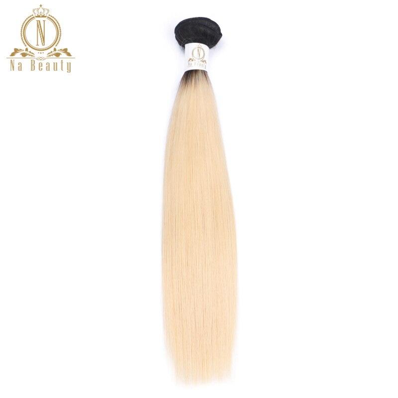 Бразильский человеческих Инструменты для завивки волос T1B/613 Ombre светлые прямые волосы Комплект s Дело сотка 1 шт. NonRemy волос Комплект может ку...