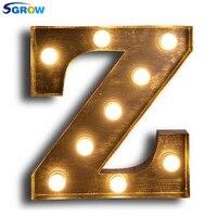 SGROW металлические буквы Z бра свет для Спальня Гостиная Книги по искусству Lampara промышленных творческие огни логотип Z гладить светильники а