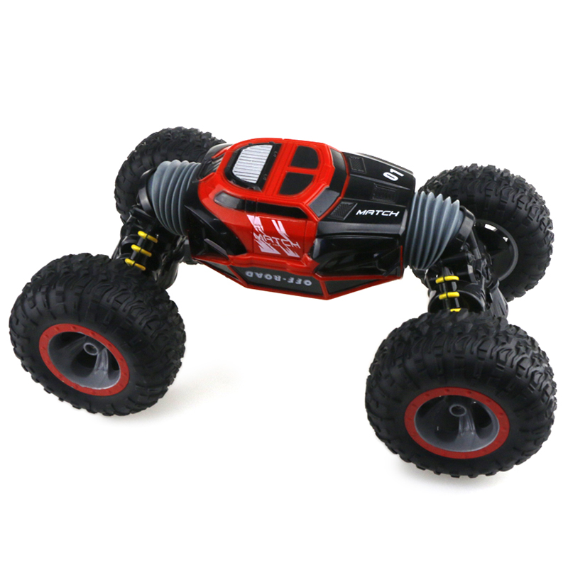 Rc Car 2.4Ghz 1/16 4WD Remote Control Car Amphibious Vehicle Double-Sided Stunt Car RC Stunt Car Vehicle Toy Xmas Gifts