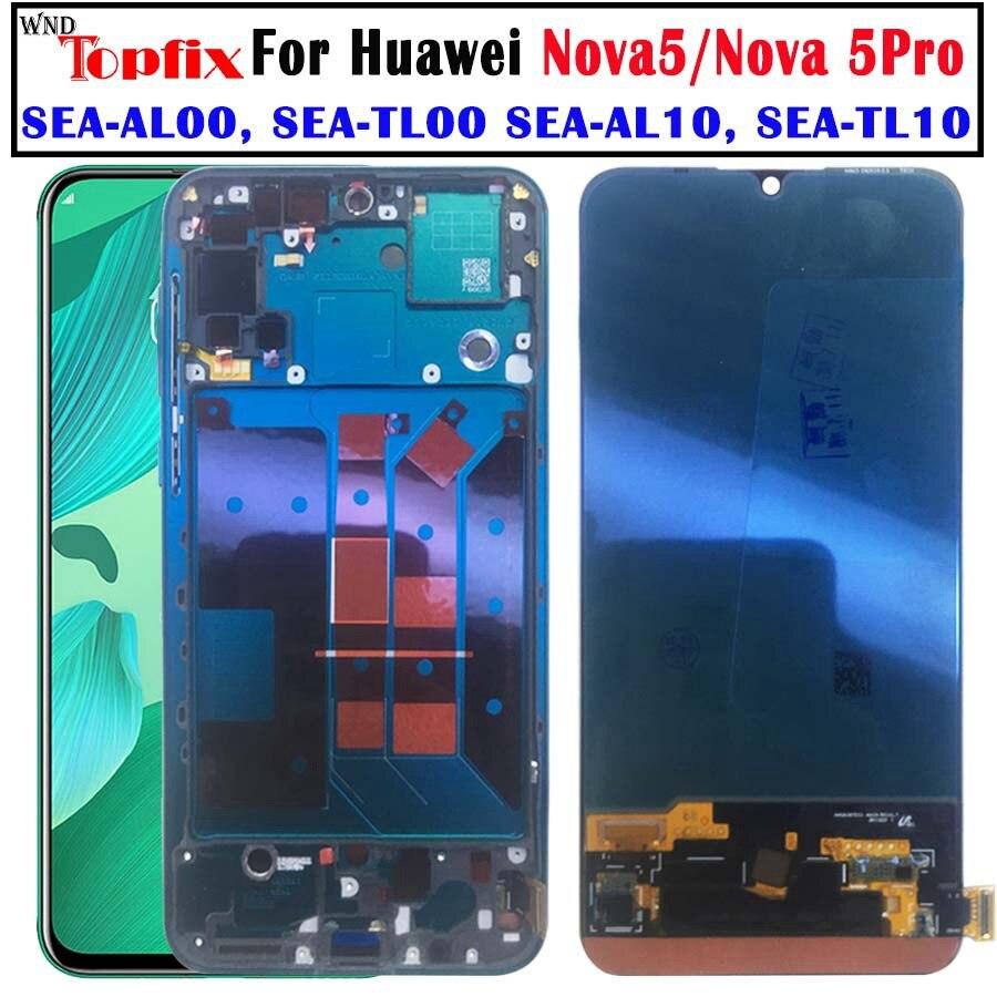NEW Original Huawei Nova 5 Pro LCD touch screen Glass Nova 5 Screen Touch Panel Sensor