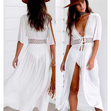 Summer Bikini 2019 Women Cover Ups Beach Coat Swimsuit Lace
