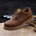 Зима Весна Осень Мужчины Ботильоны обувь Из Натуральной Кожи повседневная Узелок туризм Работа Мужчин путешествия обувь
