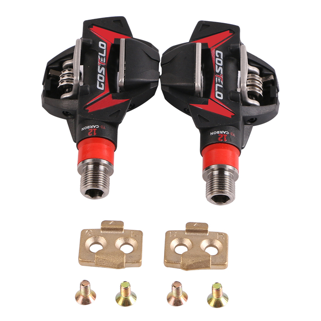 Costelo MTB Mountain bike Pedals Carbon Ti Tianium bicycle bike pedals with cleats only 264g