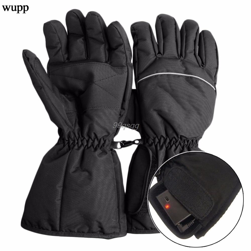 Wasserdicht Beheizte Handschuhe Batterie Powered Für Motorrad Jagd Winter Wärmer Drop verschiffen