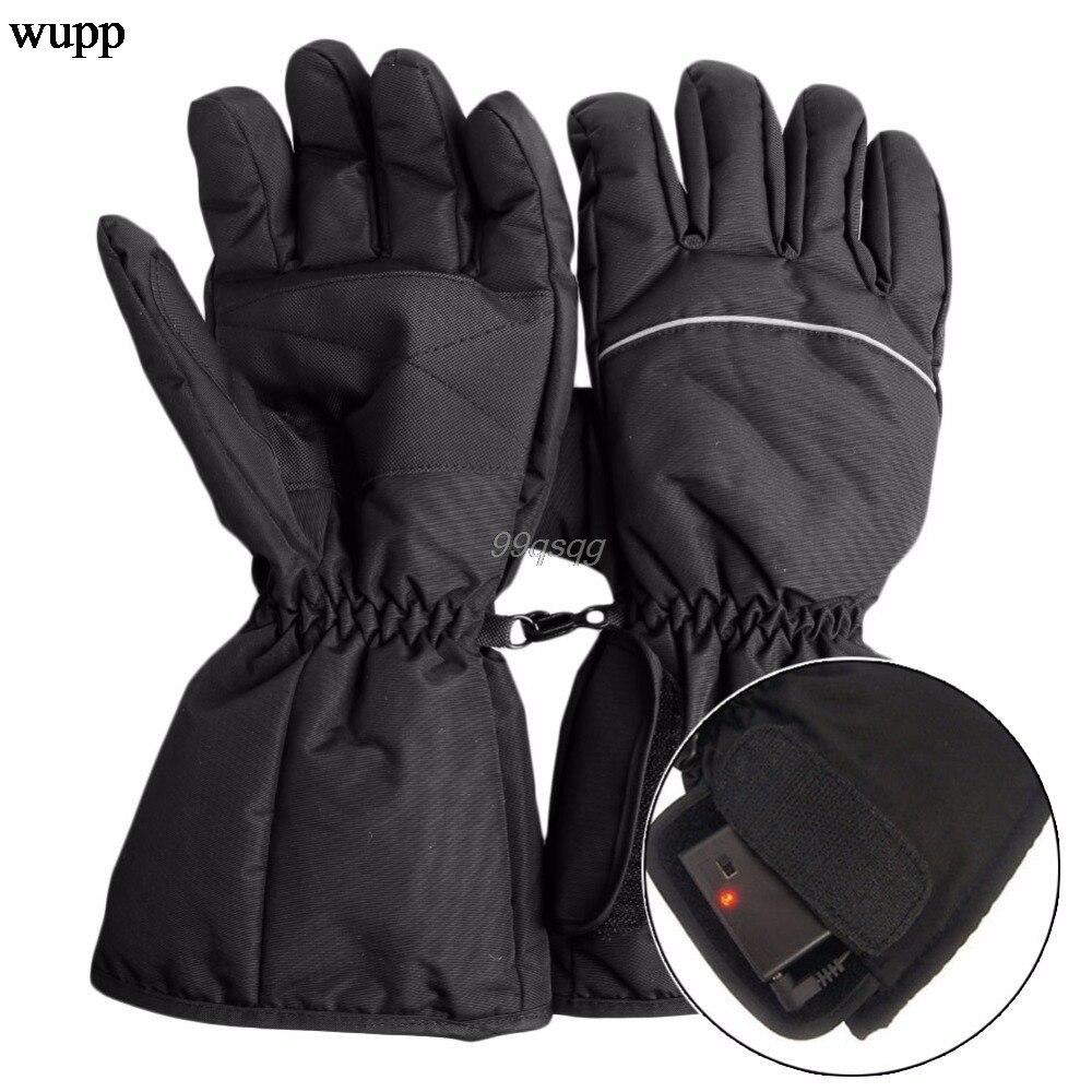 Waterdichte Verwarmde Handschoenen Batterij Aangedreven Voor Motorfiets Jacht Winter Warmer Drop verzending