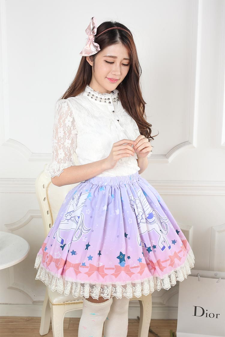 Lace Skirt Printed discount