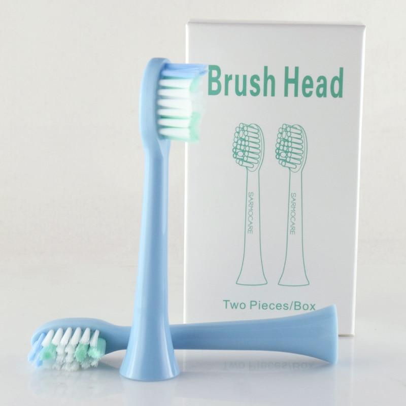 Sarmocare 2 pcs/lot tête de brosse à dents électrique remplacement pour S100 et S200 têtes de brosse à dents électrique sonique Ultra sonique