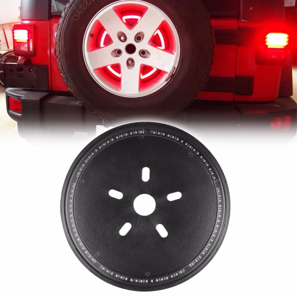 Spare Tire LED 3rd Third Brake Light Lamp Ring for Jeep Wrangler JK TJ LJ YJ CJ windshield pillar mount grab handles for jeep wrangler jk and jku unlimited solid mount grab textured steel bar front fits jeep