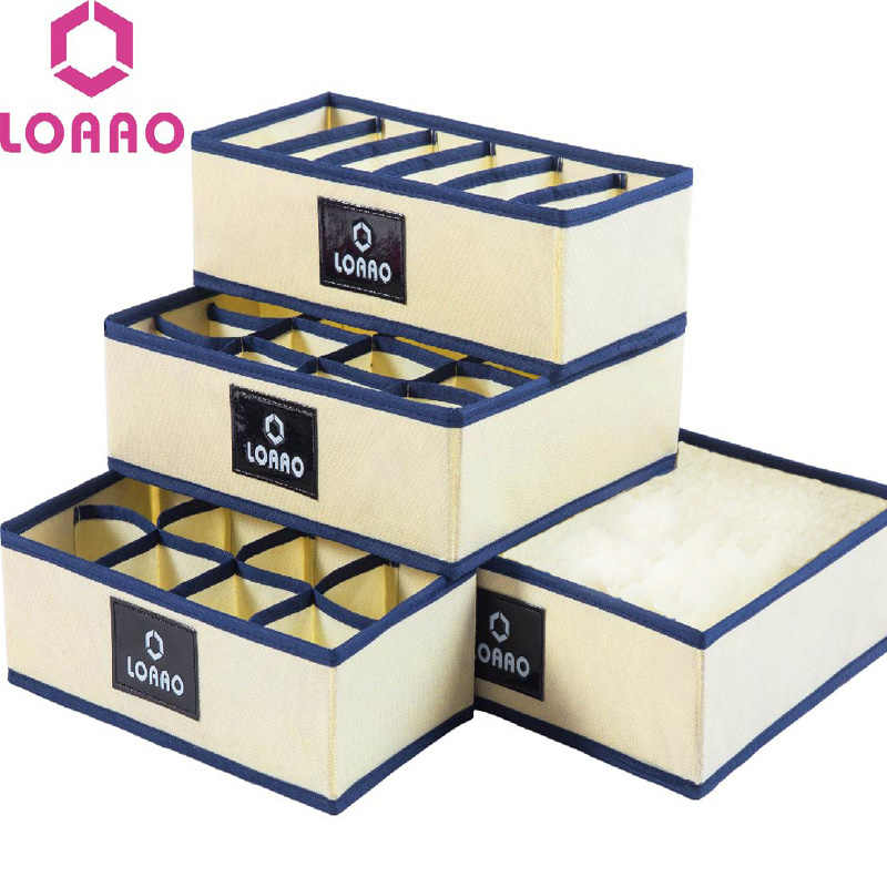 LOAAO home socks storage box bins underwear organizer box bra box socks storage organizer dust cover storage bag hanger bag