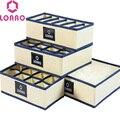 LOAAO домашние носки контейнер для хранения, ящики органайзер для нижнего белья лифчик Органайзер хранения носков хранения пылесборников вешалка мешок - фото