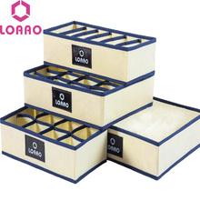 home socks box storage box bins underwear organizer box bra box necktie socks storage organizer cheap Storage Boxes Bins Stocked Eco-Friendly Folding Clothing Organizer Square Bamboo LOAAO SB-YF09 other middle Non-woven fabric