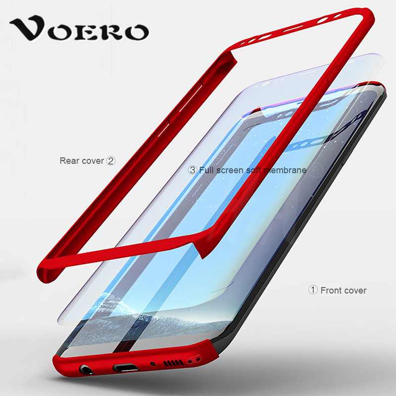 VOERO 360 Degree Full Cover Case For Samsung Galaxy A5 A3 A7 2017 2016 Shockproof Cases For Samsung S8 Plus NOTE 8 S7 Edge Case