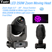 4Pcs/Lot 250W Zoom Moving Head 3IN1 Beam Spot Wash Light DJ Equipment Professional Disco Sound Party Stage Moving Head Lights