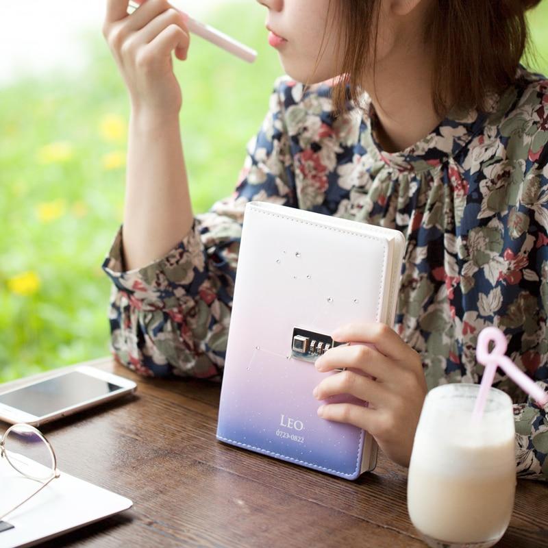 Jianwu Anlage Notebook Kreative Passwort Buch Mit Schloss 2019 Tagebuch Planer Kawaii Weichen Abdeckung Persönlichen Kugel Journal Kawaii Notebooks & Schreibblöcke Office & School Supplies