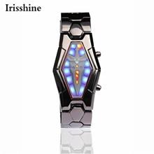 Irisshine i0866 marque de luxe Hommes montres montre homme Lava Style Samouraï de Fer Noir Bracelet LED Japonais Inspiré Montre