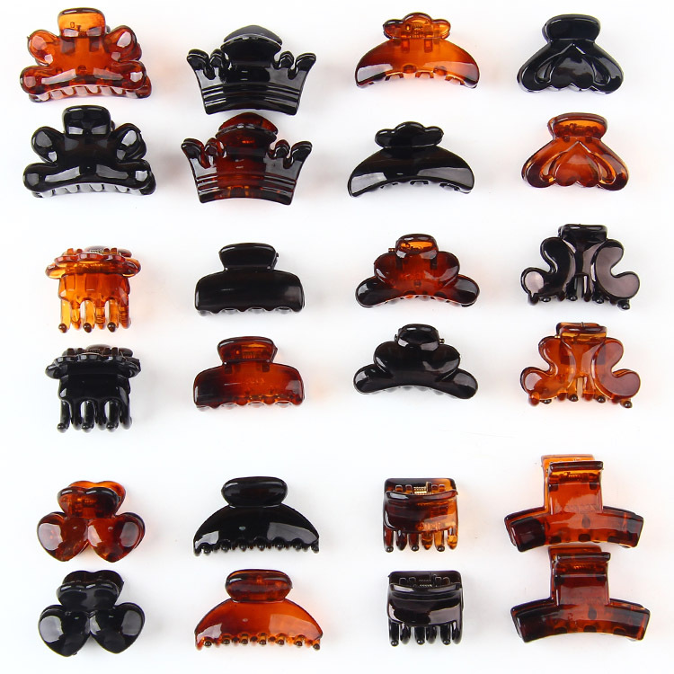 12pcs/Bag Black multicolor Hair Clips Clipper Clip Barrettes For Women Ladies Plastic 6 Claws Hairpin   Headwear   Hair Styling Tool