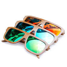 BOBO BIRD Mens Pilot Classic Wood Sunglasses Womens Polarized Wood Sun Glasses sport eyewear in wood Box custom logo