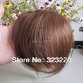 """8 """" meninas clipes do frente Neat estrondo Fringe extensões de cabelo humano 20 g castanho # 8"""