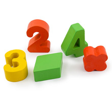 Rainbow Rings Children Preschool Teaching Aids Counting and Stacking BoardWooden