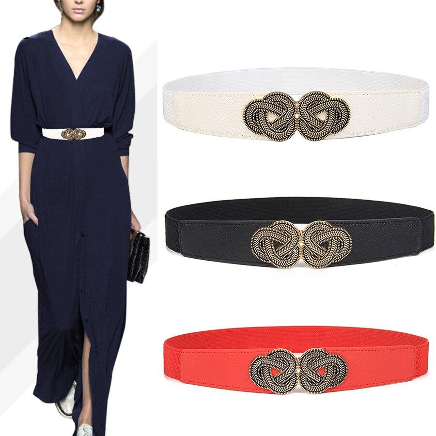 Women Corset Thin PU Leather Slimming Body Belt Elastic High Waist Shaping Girdle Bands Cummerbund Stretch Knit Cinch Waistbands