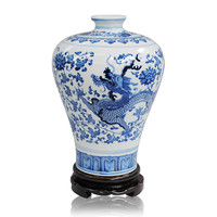 Ceramics blue and white porcelain vase modern fashion home decoration crafts dragon vase