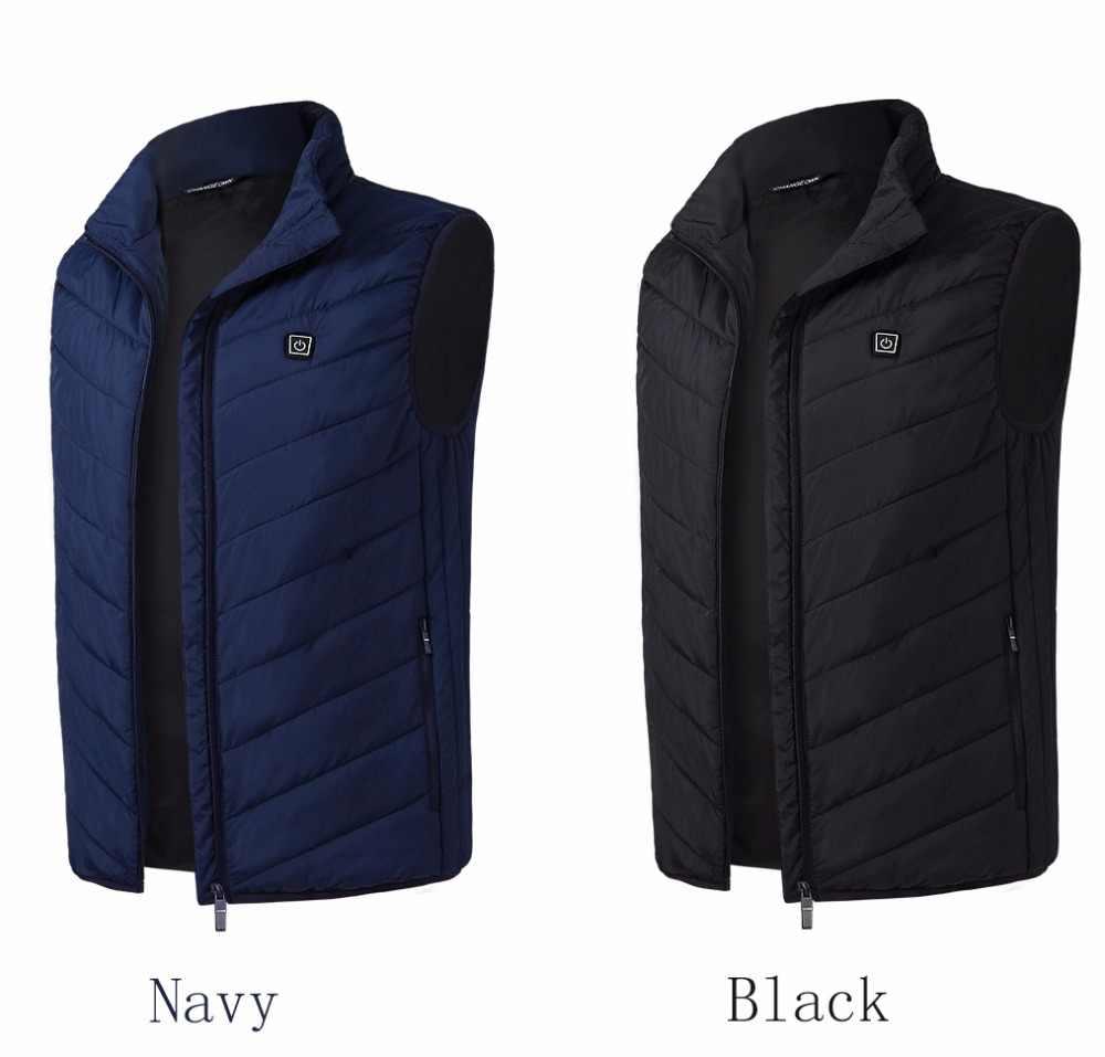 2018 Подогрев жилет Для мужчин и Для женщин отопление жилет Термальность теплая одежда перо Лидер продаж зимняя куртка с подогревом Veste Femme