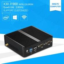 XCY Mini Pc J1900 Dual lan INDUSTRIAL COMPUTER Celeron Quad core 2.0GHz Fanless Business Computer with 4*USB Port 2*RS232