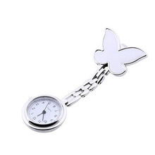 OTOKY Dignity 2017 Fashion Butterfly Nurse Clip-on Fob Brooch Pendant Hanging Pocket Watch montre femme Apr19