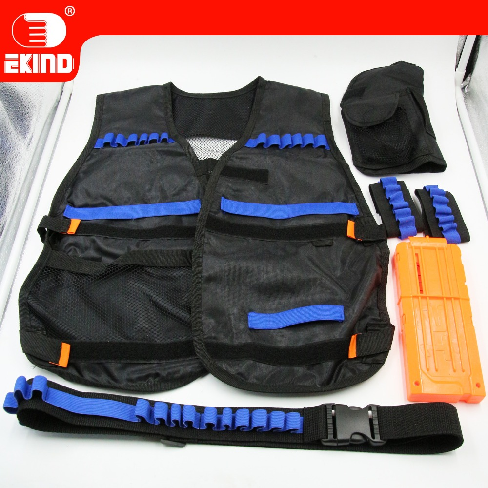 EKIND Upgraded Black Tactical Equipment kit For Nerf N-strike Elite Toy Gun Outdoor Fun Cs Game