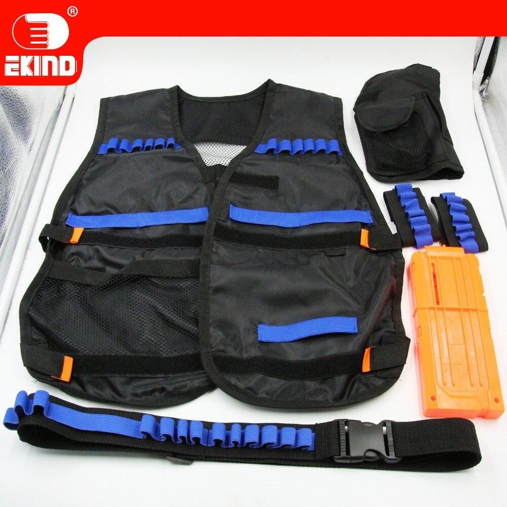 EKIND Upgraded Black Tactical Equipment kit For Nerf N-strike Elite Toy Gun Outdoor Fun Cs Game