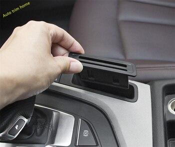 Lapetus Center Control Card Storage Bank Card Cover Fit For Audi A4 B9 A5 Sedan Avant Allroad Quattro 2016 - 2020 Auto Accessory lsrtw2017 fiber leather car trunk mat for audi a4 allroad 2018 2019 a4 avant a4 b9