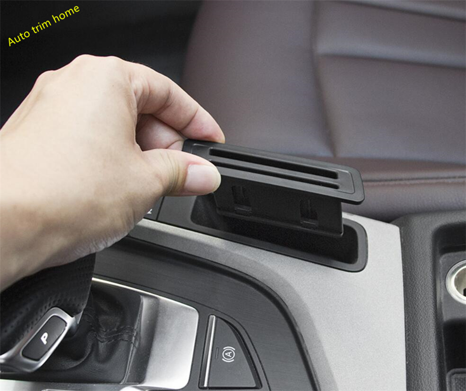 Lapetus Center Control Card Storage Bank Card Cover Fit For <font><b>Audi</b></font> <font><b>A4</b></font> B9 A5 Sedan Avant Allroad Quattro 2016 - 2019 Auto Accessory image