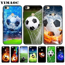 YIMAOC Football on water burning fire sports Black Soft Silicone Case for Xiaomi Redmi Note 6 Pro 7 S2 Go Cover
