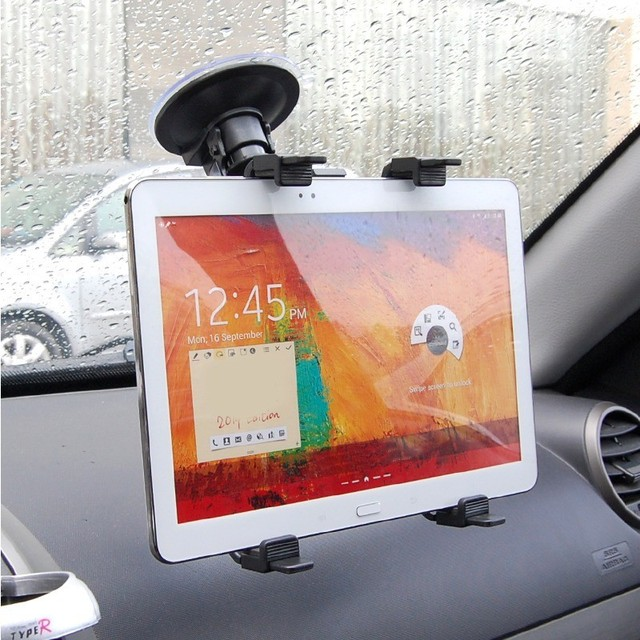 Suction Cup Style Tablet PC Stand Bracket Clip for 7~12 inch Screen Universal Bracket Clip Car Holder with 360 degree turning