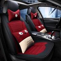 Cute cartoon car seat cover Synthetic Fiber Interior Accessories for fiat 500 tiguan bmw e87 volkswagen polo