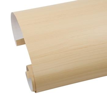 HOHOFILM 1.24x5m Wood Grain Vinyl Waterproof Wall Decorative Sticker Car Internal Stickers Cabinet 48.8''x196.8''