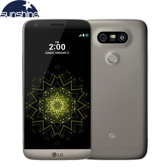Abierto original lg g5 4g lte teléfono móvil quad core 4g ram 32g rom 5.3 ''. 0mp cámara huella digital inteligente
