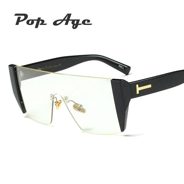 Pop age nueva moda semi rimless cuadrado Gafas mujeres hombres de ...