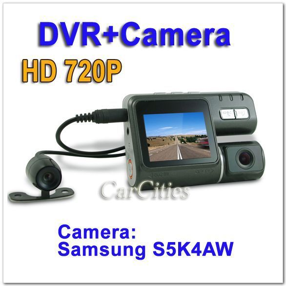 HD720P Ultra ca DVR Clear Camera with back view camera,G-sensor,Camera:Samsung S5K4AW 1.2million pixel COMS