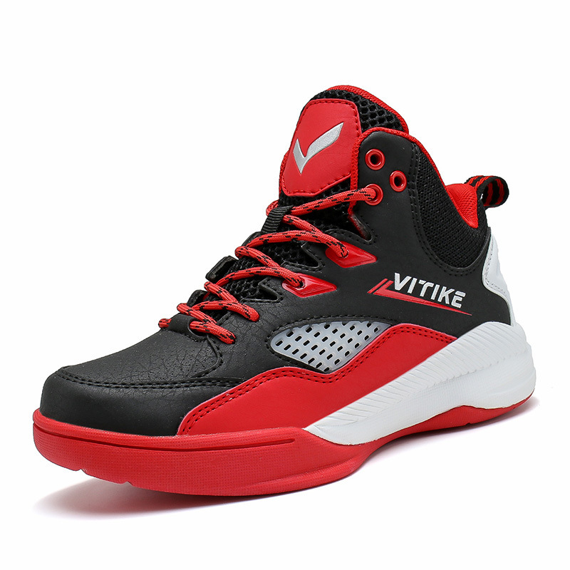 Kids Basketball Shoes Outdoor Trainers Breathable Non-Slip Sports Shoes Children Athletic High Top Sneakers Boys Girls