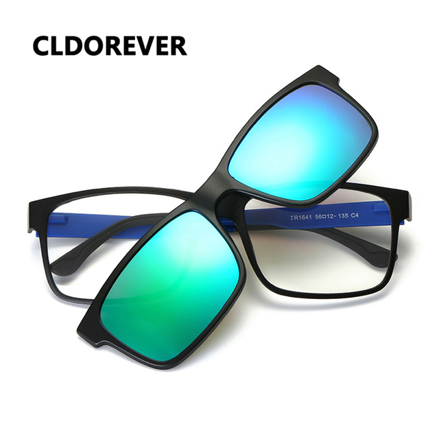 2c72e9cdd3b7 New Polarized Sunglasses Men Brand Optical Plastic Steel Glasses Frame  Double-purpose Magnet Adsorption Lens Mirror Sun Glasses