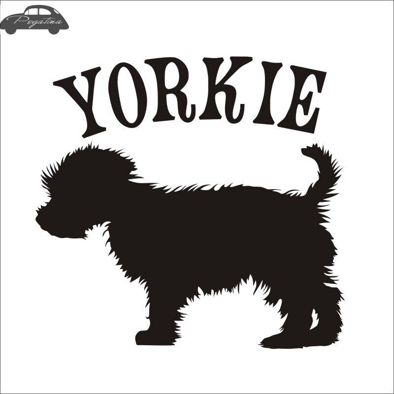 Car YORKIE Pet Shop Sticker Dog Decal Posters Vinyl Wall Art Decals Pegatina Quadro Parede Decor Mural Pet Shop Sticker