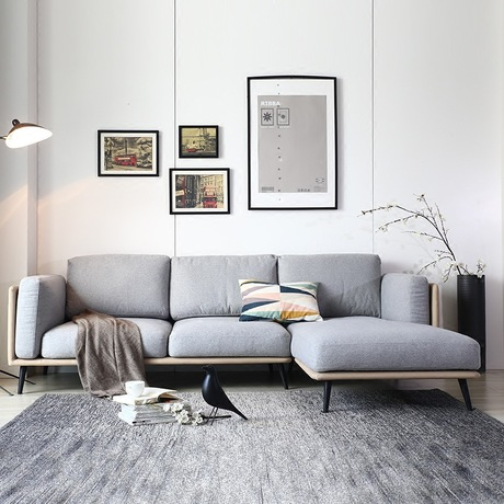 US $9199.99 8% OFF|Living Room Sofas couches for Living Room Furniture Home  Furniture minimalist fabric sofa bed recliner sectional sofa 250*80*39-in  ...