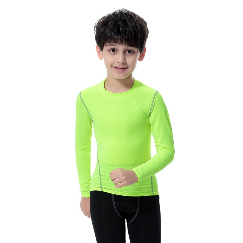 Kids Boys Girls Compression Base Layer Skins Tee Thermal T- Shirt Quick-drying Clothes S01 35 40 s01