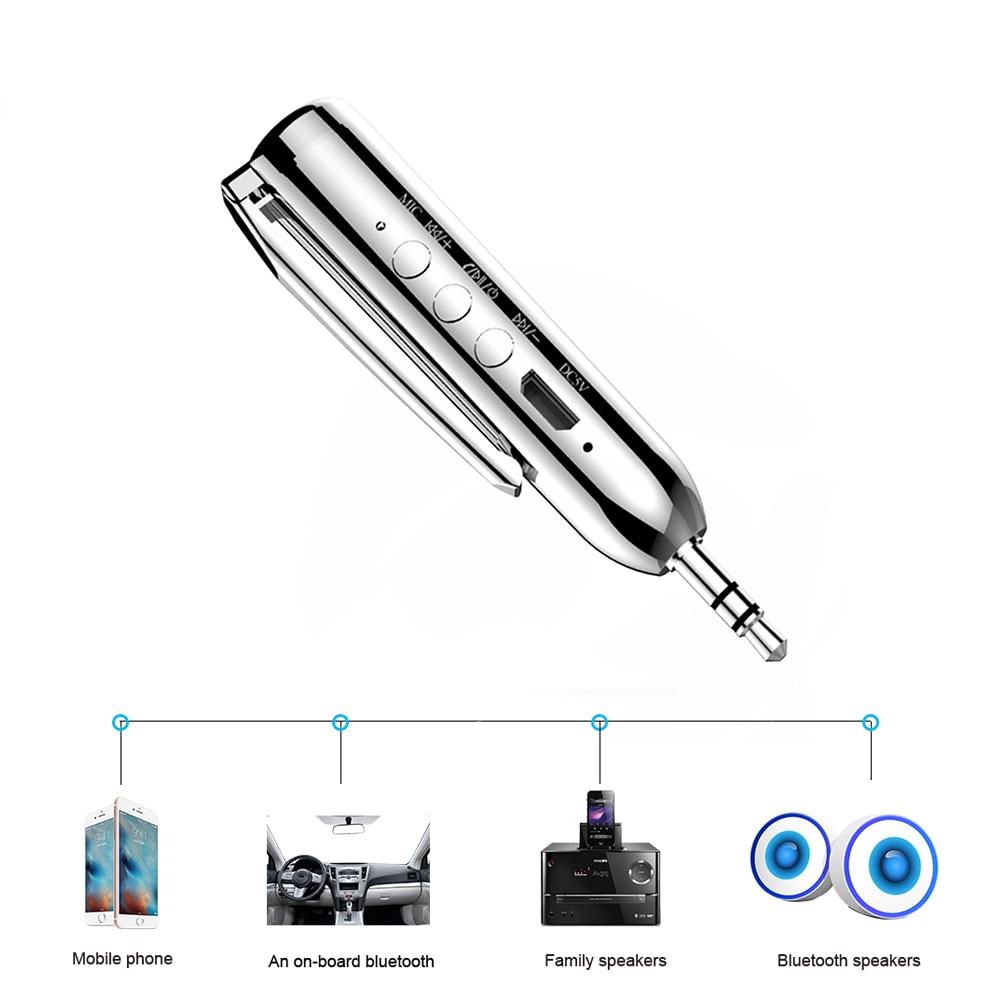 Micro USB Bluetooth Audio Receiver Adapter Bluetooth4.0 Handsfree Car Kit 3.5mm Jack Aux Adaptador Bluetooth For Headphone