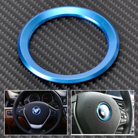 Blue Car Steering Wheel Center Decoration Ring Cover For BM 1 3 4 5 7 Series