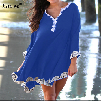 New Beach Cover Up Bikini For Women Crochet Knitted Beachwear Summer Swimsuit Cover Up Sexy Short Beach Dress Pareos Wrap Tunic
