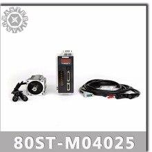 80ST M04025 220V 1000W AC 서보 모터 4N.M 2500RPM 1KW 서보 모터 단상 ac 드라이브 영구 자석 일치 드라이버 AASD 20A